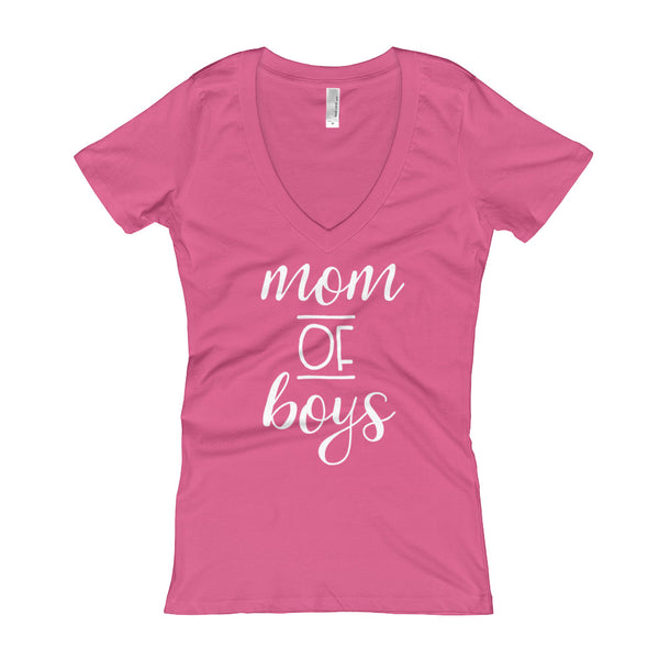 Mom of Boys Women's V-Neck T-shirt