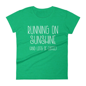 Running on Sunshine and Coffee Women's short sleeve t-shirt
