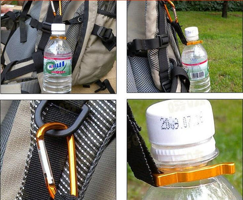 Camping Carabiner Water Bottle Holder