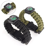 New Outdoor Paracord Survival Bracelet Rope With Flint Fire Starter