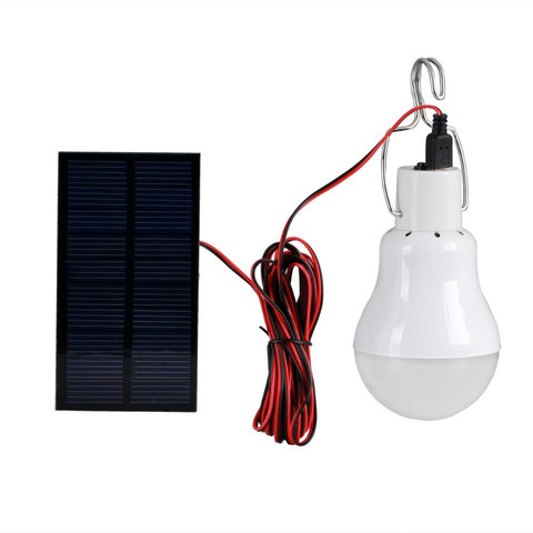 Portable 15W 130LM Solar Charged LED Bulb