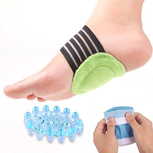 Plantar Fasciitis Arch, Heel & Ankle Support & Foot Massager Kit