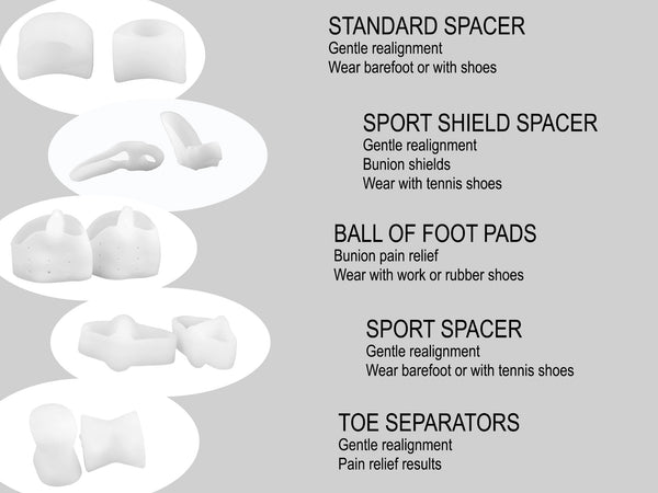Toe Separators, Bunion Relief set