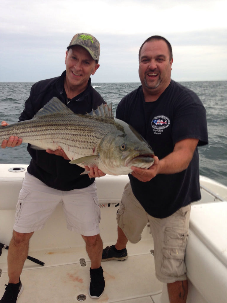On the World Record Striper Company Charter Boat, We Always Love To Put Our Clients On Big Fish!