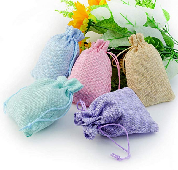 Multi-Color Burlap Sack