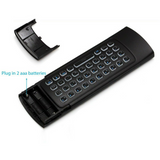 WIRELESS LED KEYBOARD & AIR MOUSE REMOTE
