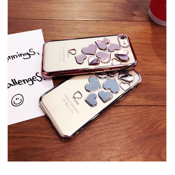 Love Heart 3D Soft Silicone Cell Case