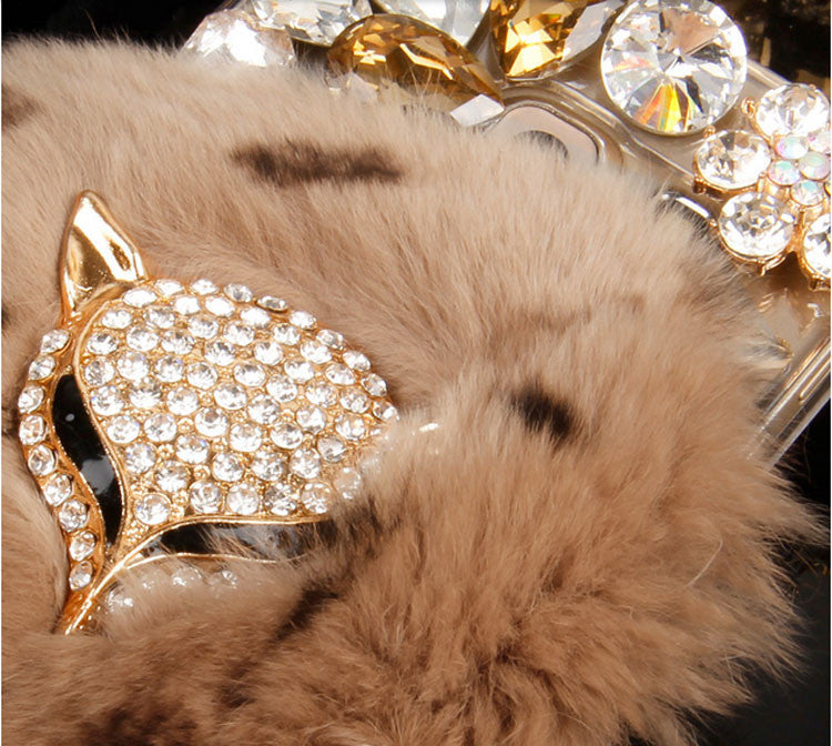 Bling Fox Head & Fur Case