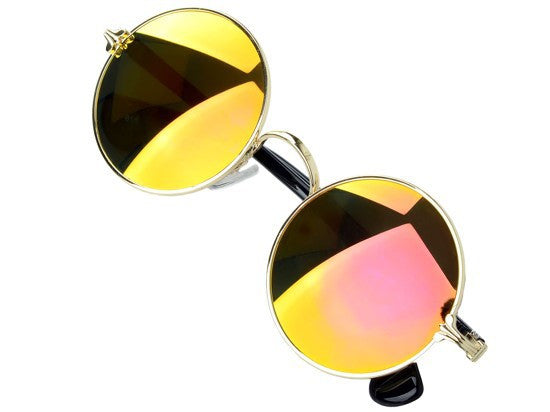 Round Reflective Sunglasses Bling - High Maintenance Bitch