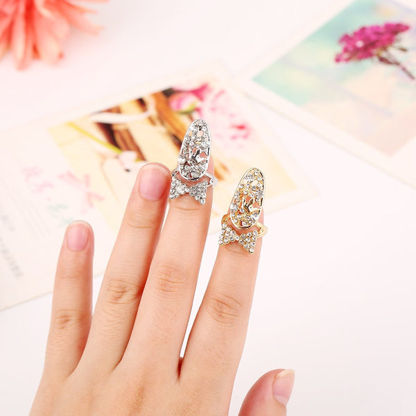 Bling Bow Finger Nail Ring - High Maintenance Bitch