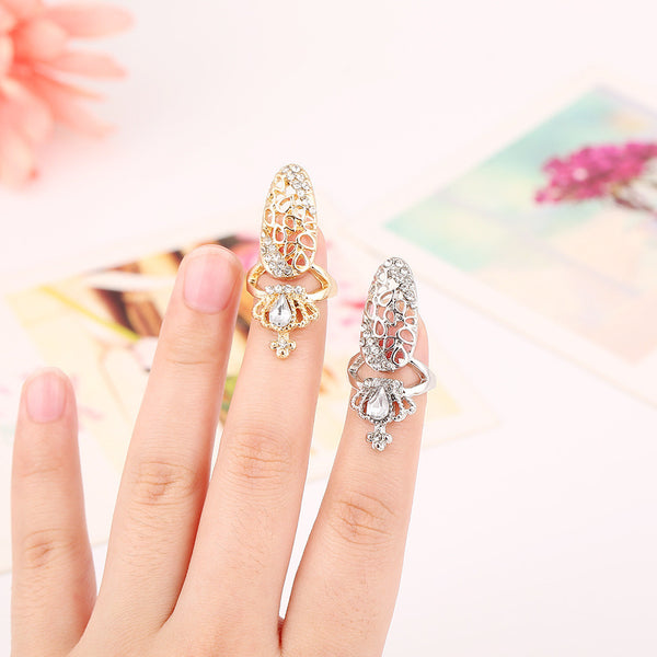 Bling Crown Finger Nail Ring Bling - High Maintenance Bitch
