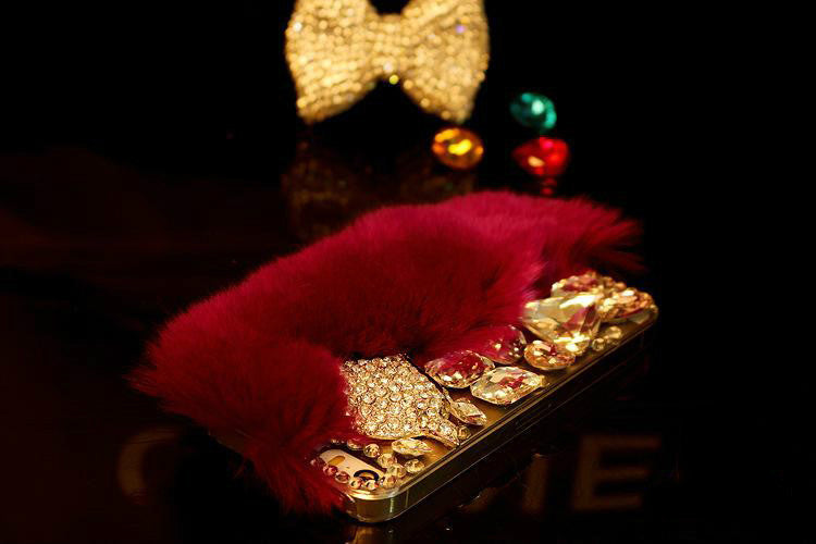 Fox Head & Fur Luxury Diamond Cell Case cover Bling - High Maintenance Bitch
