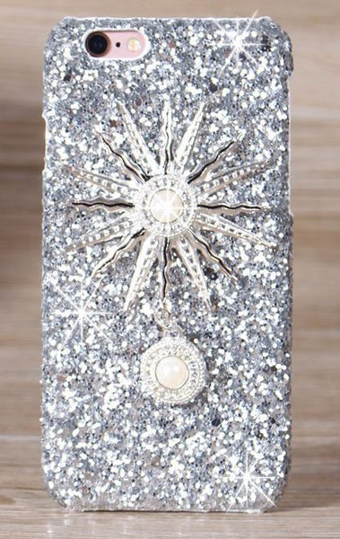 Rhinestone & Glitter Glam Sparkling Sun Cell Case Bling - High Maintenance Bitch