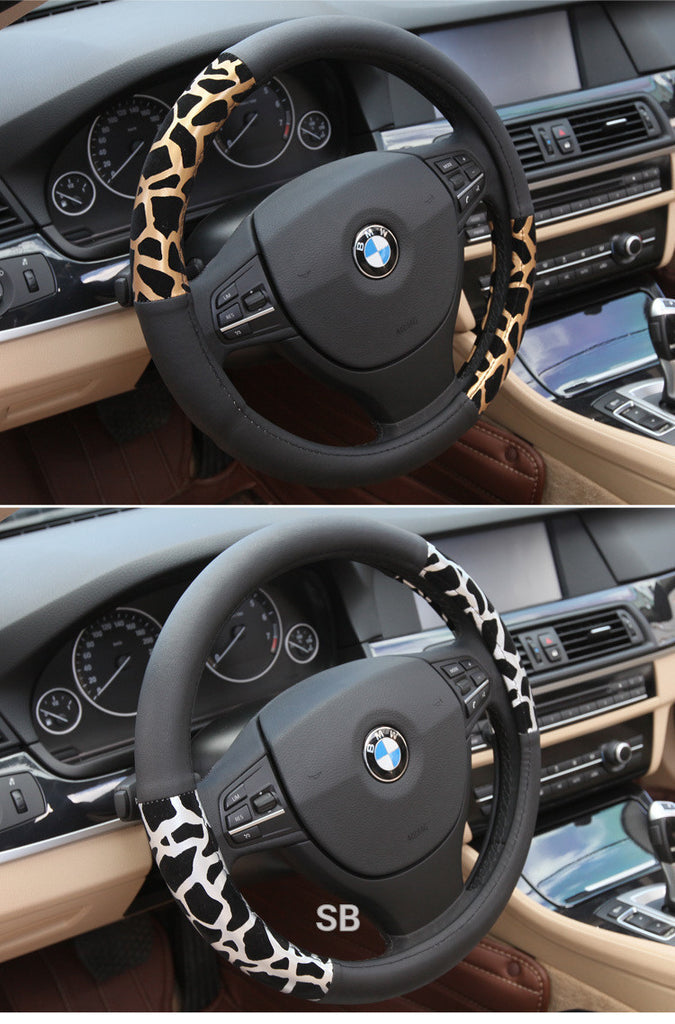 Leopard Print Steering Wheel Cover Bling - High Maintenance Bitch