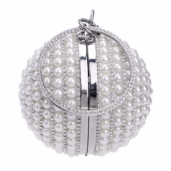 UNIQUE Luxury Pearl Round Evening Bag Bling - High Maintenance Bitch