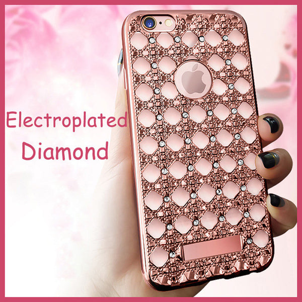 Luxury Bling Diamond Electroplated soft TPU Cases Bling - High Maintenance Bitch