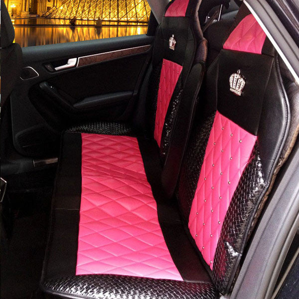 """DAD"" Car Products- Rhinestone Embellished with Crown-Universal Car Seat Covers Bling - High Maintenance Bitch"