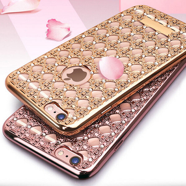 Luxury Bling Diamond Electroplated soft TPU Cases