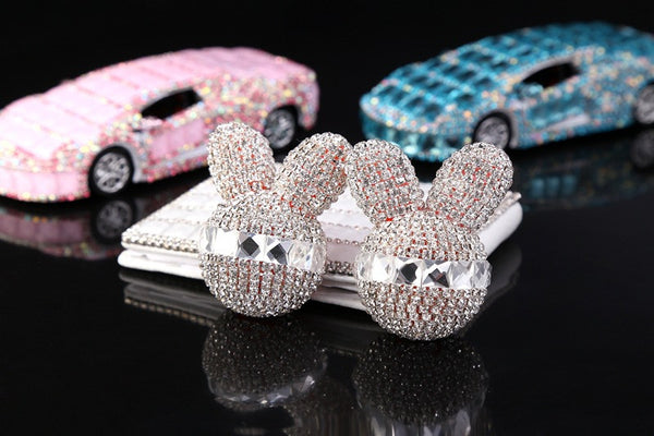 Diamond Rabbit Head Car Fragrance Decoration Bling - High Maintenance Bitch