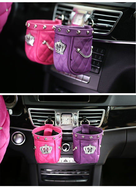 Queen B Car Storage/Holder Bling - High Maintenance Bitch