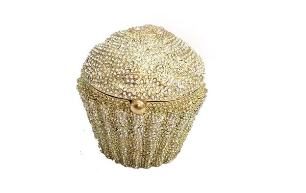 Fashion Designer Brand Luxury Crystal Cupcake Evening Bag