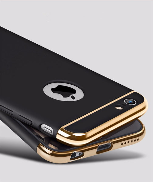Luxury Black Matte Hard 360 Full Protection Case For iPhone 6,6S Plus Bling - High Maintenance Bitch