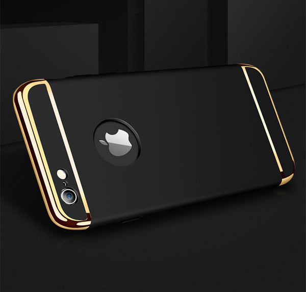 Luxury Black Matte Hard 360 Full Protection Case For iPhone 6,6S Plus