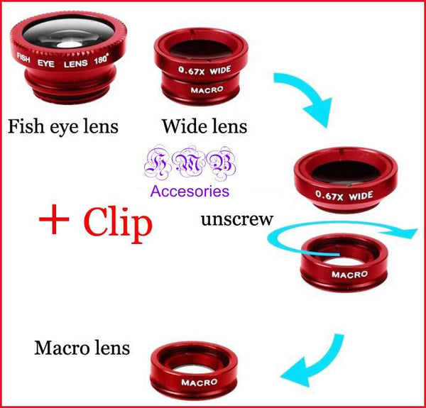 Universal Clip 4-in-1 Cell Camera Lens Kit