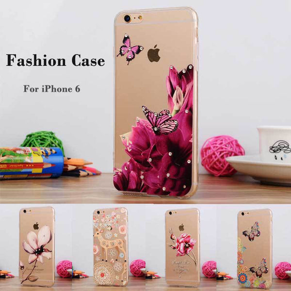 Floral Luxury Rhinestone Painted TPU Soft Silicone  Case Bling - High Maintenance Bitch