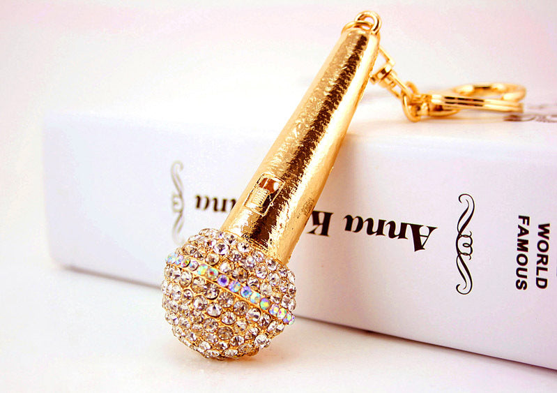 Bling Microphone Purse Charm/Key Chain Bling - High Maintenance Bitch