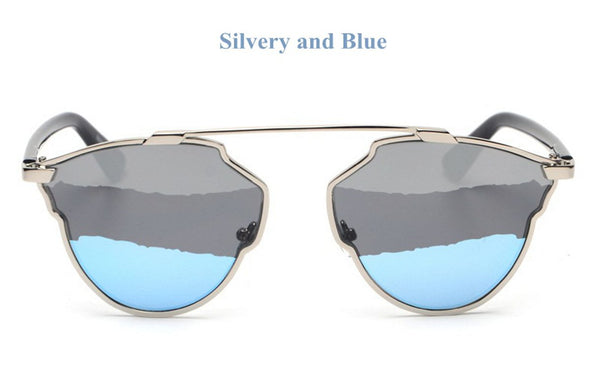 Cool Polarized 3 Color Lens Cat Eye Sunglasses Bling - High Maintenance Bitch