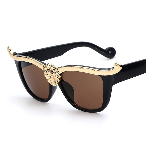 Glam Black & Gold Ladies Sunglasses Bling - High Maintenance Bitch