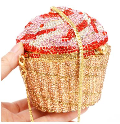 Designer Crystal Diamond Cupcake Clutch Handbags (SC515)