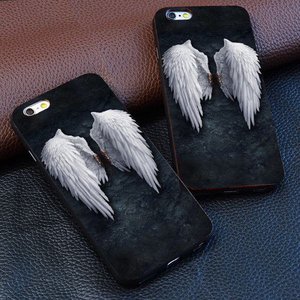 """The Wings Of The Angel"" Luxury Hard Plastic Cell Case"