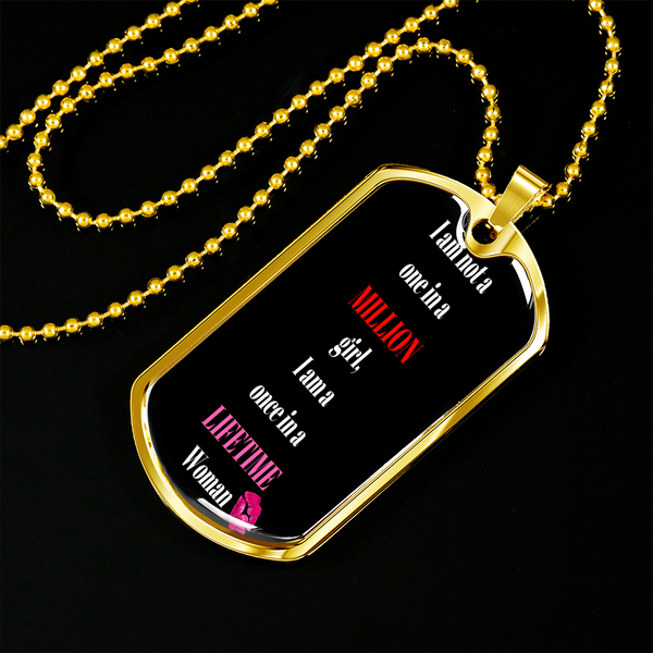 One In A Million Dog Tag Necklace Bling - High Maintenance Bitch