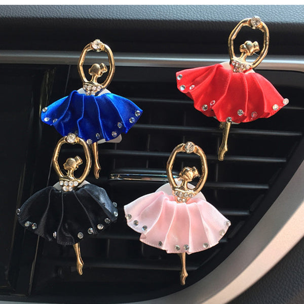 Bling Ballet Girl Car Perfume Air Vent Clip