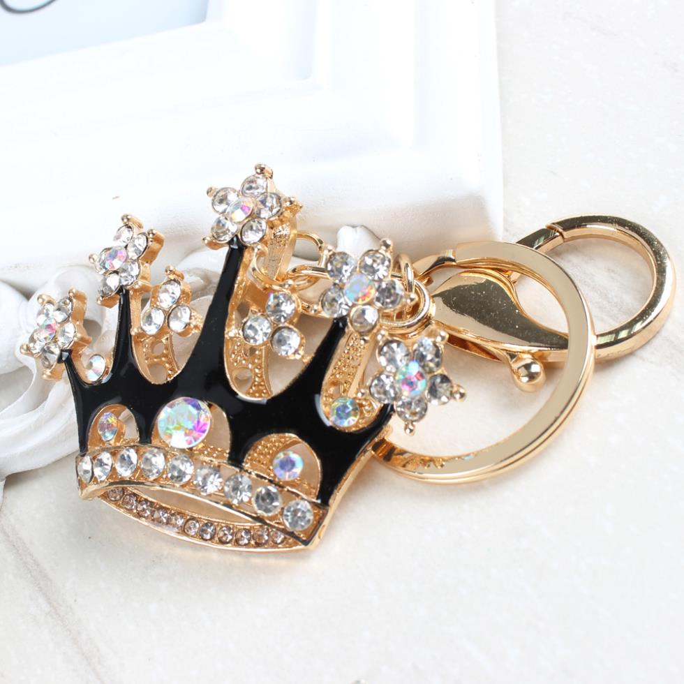 Royal Red or Black Bling Crown  Purse Charm/Key Chain Bling - High Maintenance Bitch