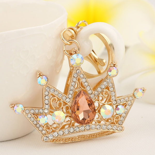 Luxurious Bling Crystal Crown Purse Charm/Key Chains - High Maintenance Bitch