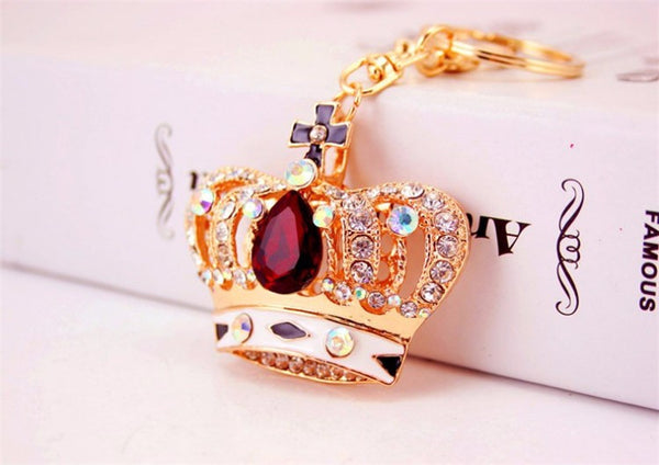Crystal Rhinestone Crown Purse Charm/ Key Chain Bling - High Maintenance Bitch