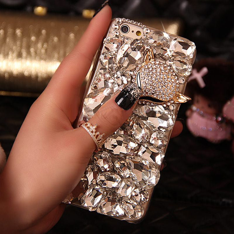 Bling Crystal Rhinestone Case with Bling Fox Head Embellishment Bling - High Maintenance Bitch
