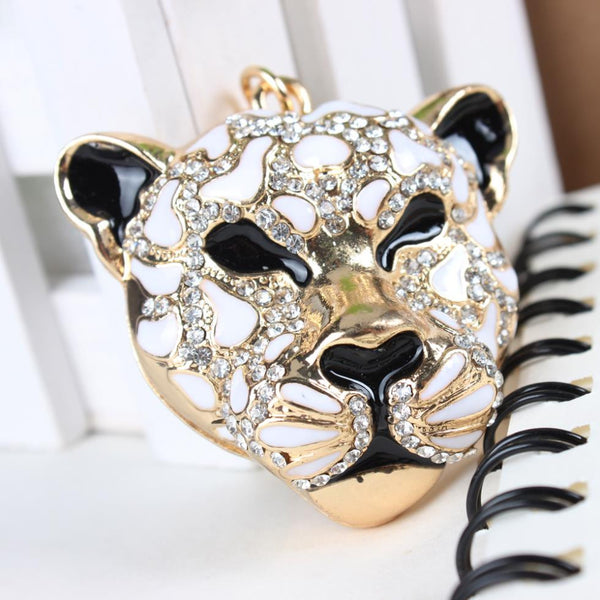 Hot Selling Leopard Head Crystal Rhinestone Purse Charm / Key Chain - High Maintenance Bitch