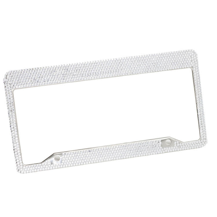 Silver Bling Licence Plate Holder (2pc Set) Bling - High Maintenance Bitch