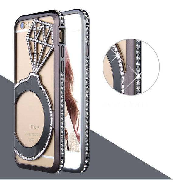 Diamond Ring Bling Cell Case Bling - High Maintenance Bitch