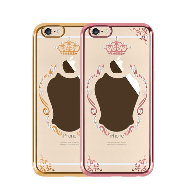Royal Bling Crown Soft Silicon Case With mirror Bling - High Maintenance Bitch