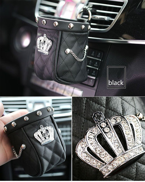 10*11cm Lady Series Diamond Crown & Rivet Bag Bling - High Maintenance Bitch