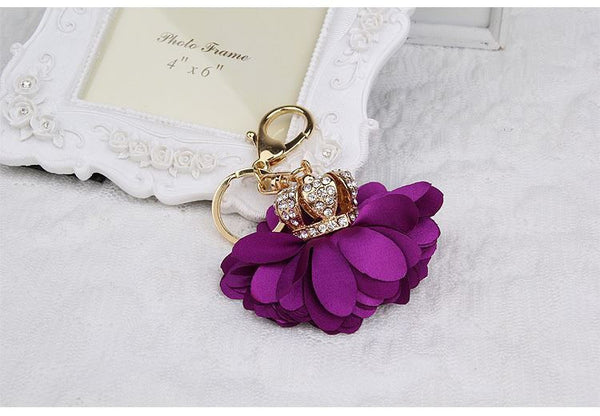 Fashion Crown Flower Purse Charm/Key Chain Bling - High Maintenance Bitch