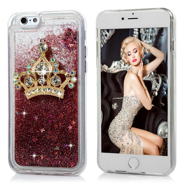 3D Glitter Diamond Luxury Liquid Case Bling - High Maintenance Bitch