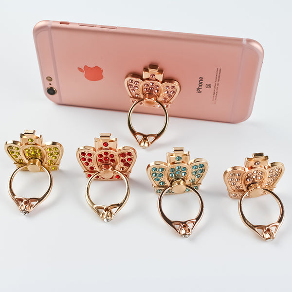 Classic 360 Degree Bling Crown Universal Cell Phone Ring/Kickstand Bling - High Maintenance Bitch