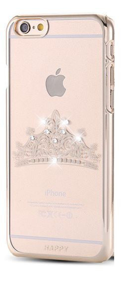 Bling & Gold Tiara Style Crown Clear Cell Case (iPhone) Bling - High Maintenance Bitch