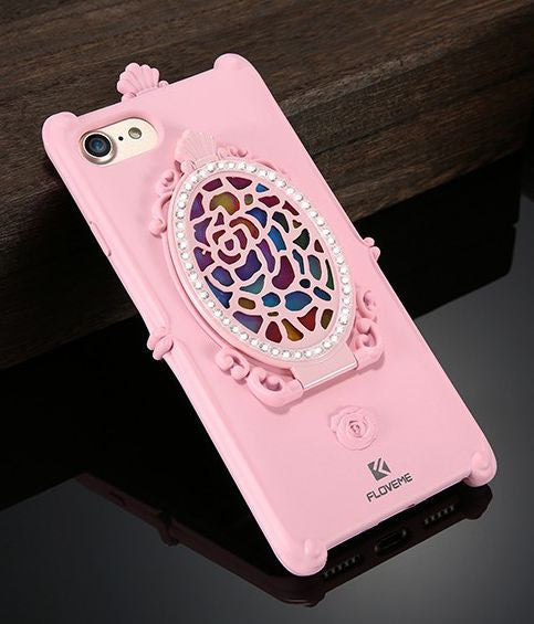 Rhinestone Mirror Kickstand Case Bling - High Maintenance Bitch